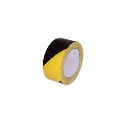 Grupa morado Taśma ostrzegawcza żółto czarna - szerokość 80 mm, długość 100 m