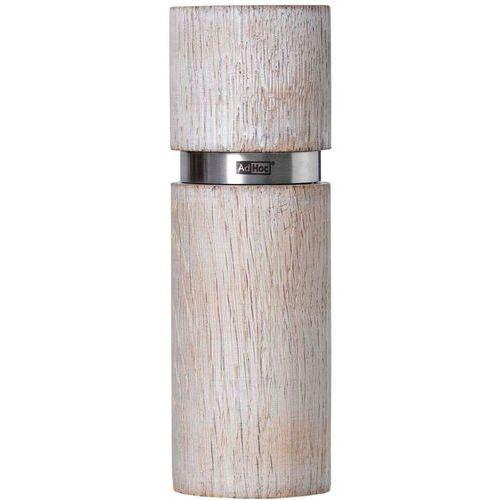 Młynek do pieprzu lub soli 15 cm Textura Antique AdHoc biały (A-MP25), MP25