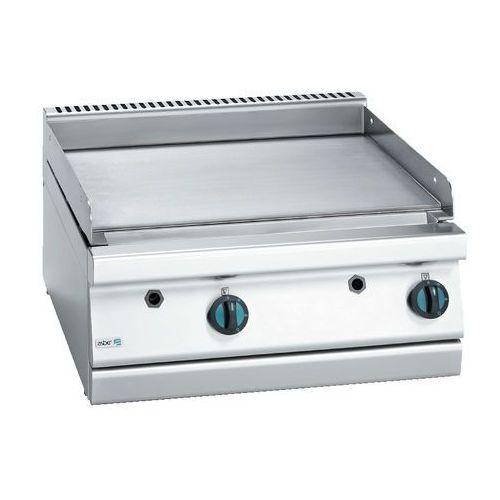 Płyta grillowa gazowa gładka, gaz ziemny, 700x775x290 mm | , block cook 700 marki Asber