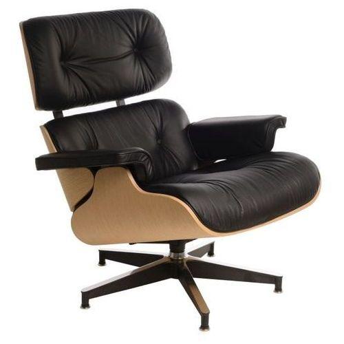 Fotel Vip inspirowany Lounge Chair - czarny   natural, 42284