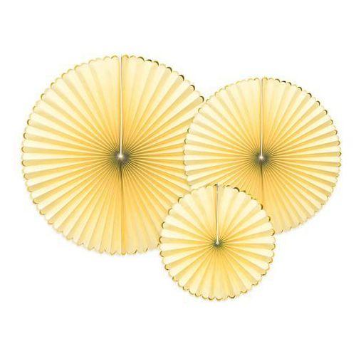 Rozetki wiszące żółte - 3 szt. marki Party deco