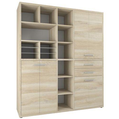 Maja-möbel Regał biurowy set+ 216x191 cm, naturalny, mdf, 16925524