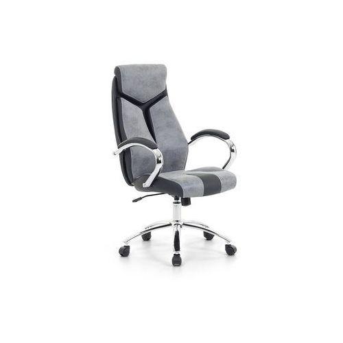Beliani Krzesło biurowe szare - fotel biurowy obrotowy - meble biurowe - formula 1