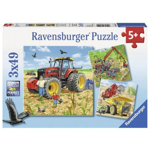 Puzzle 3x49 Ogromne maszyny - Ravensburger. DARMOWA DOSTAWA DO KIOSKU RUCHU OD 24,99ZŁ (4005556080120)