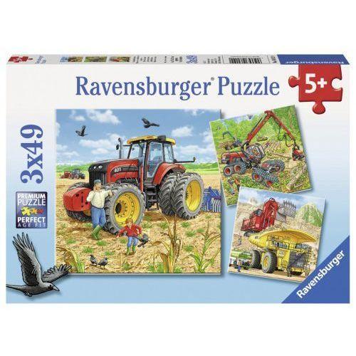 Ravensburger Puzzle 3x49 ogromne maszyny - . darmowa dostawa do kiosku ruchu od 24,99zł
