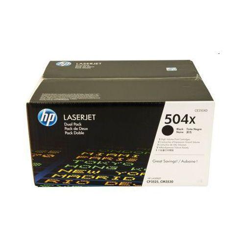 Tonery Oryginalne HP 504X (CE250XD) (Czarne) (dwupak) - DARMOWA DOSTAWA w 24h - sprawdź w wybranym sklepie