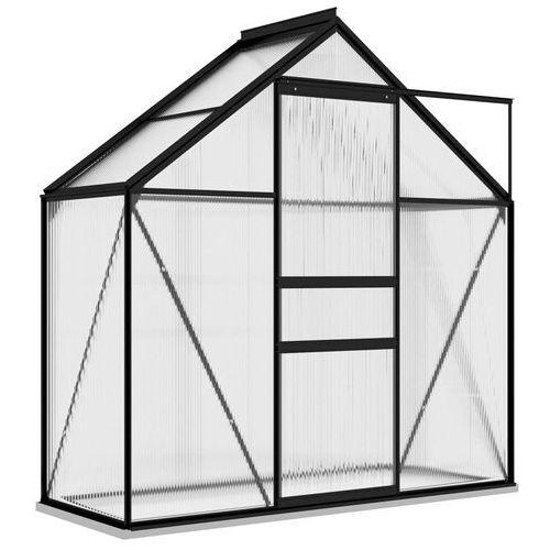 Vidaxl szklarnia, antracytowa, aluminium, 1,33 m²