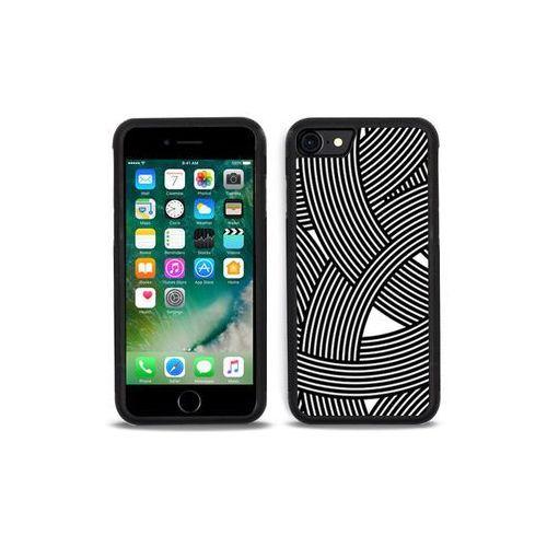 Apple iPhone 7 - etui na telefon Aluminum Fantastic - biało-czarna mozaika