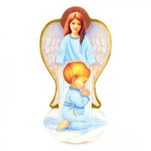Ikona Anioł Stróż, prezent na chrzest dla chłopca, UR5006C1