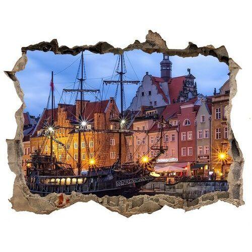 Dziura 3d w ścianie naklejka Gdańsk Polska