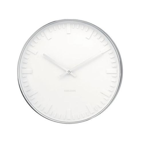 :: zegar ścienny mr. white station steel polished marki Karlsson
