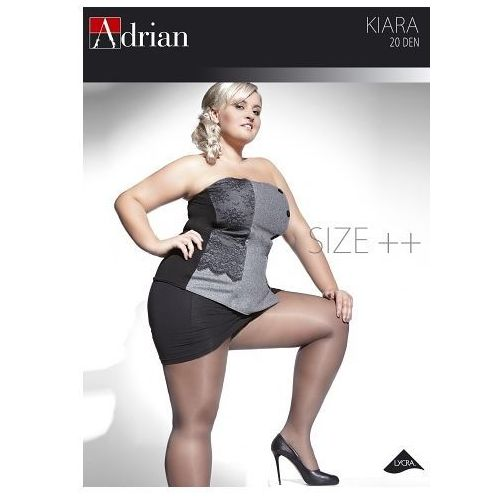 Rajstopy Adrian Kiara Size++ 20 den 7-8XL 7, grafitowy/fumo, Adrian, 5905493092172