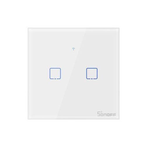 Sonoff Dotykowy włącznik światła wifi + rf 433 2-kanałowy t1eu2c-tx (6920075725315)