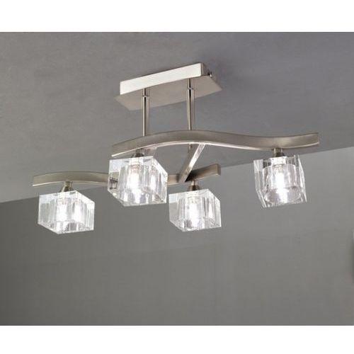 lampa sufitowa CUADRAX 4L nikiel satynowy i szkło optyczne, MANTRA 1117