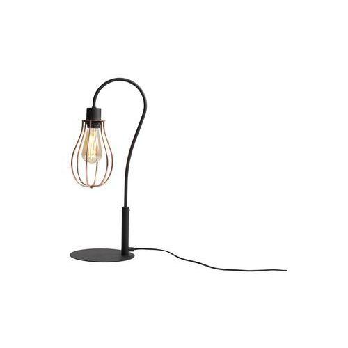 Stojąca lampa stołowa adx 960b industrialna lampka biurkowa metalowa klatka druciana loft miedziana marki Mlamp