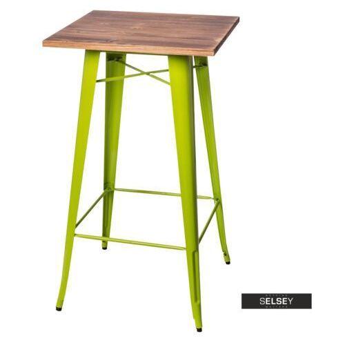 Selsey stół barowy paris wood 60x60 cm zielony jasny sosna