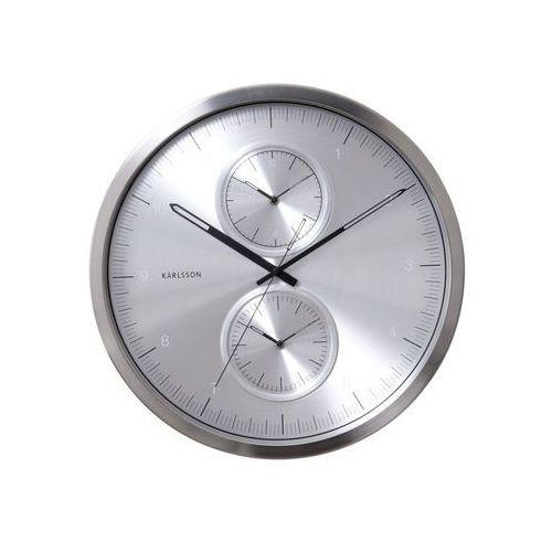 Karlsson:: Zegar ścienny Multiple Time Aluminium Brushed