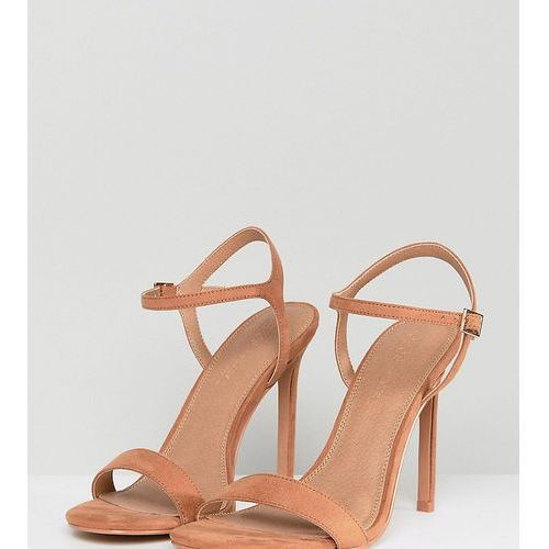 hands down barely there heeled sandals - beige, Asos