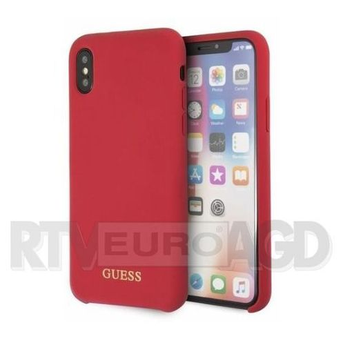 Guess etui hardcase guhcpxlsglre iphone x czerwony silicone