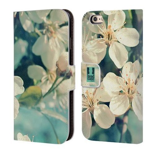 Head case Etui portfel na telefon - flowers white spring cherry blossoms