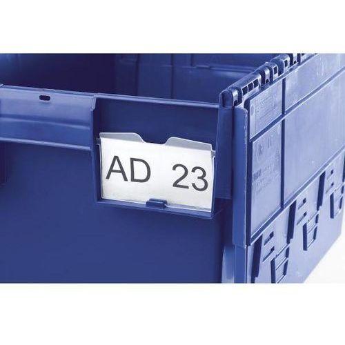 Uchwyt na etykiety, przezroczysty, do strony wzdłużnej i czołowej, opak. 10 szt.