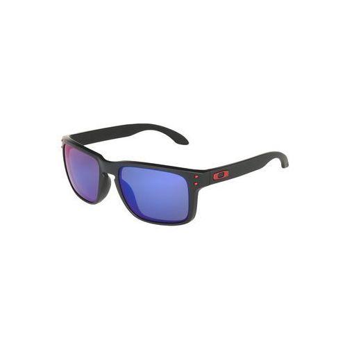 Oakley HOLBROOK Okulary przeciwsłoneczne matte black/positive red iridium, OO9102-36