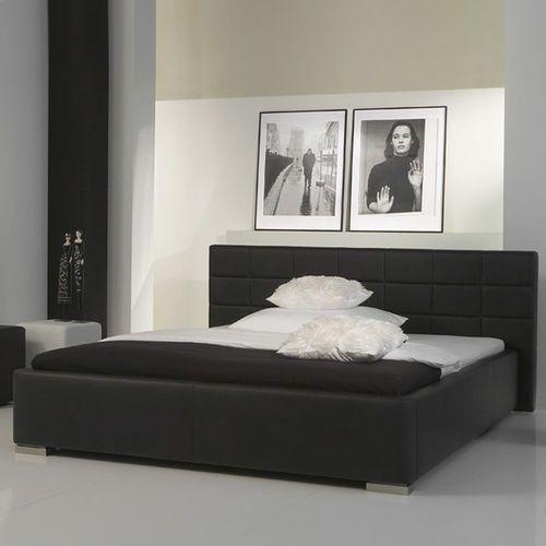 Łóżko tapicerowane 140 cm Veronica ze stelażem i pojemnikiem na pościel