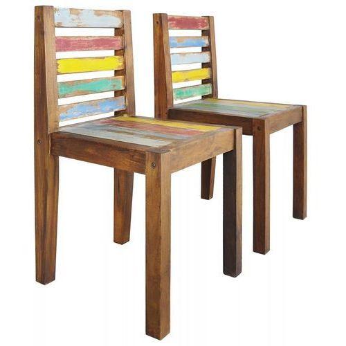 Krzesła z drewna odzyskanego z łodzi, 2 szt., 45 x 45 x 85 cm