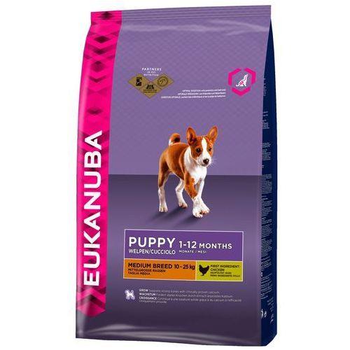 Eukanuba growing puppy medium breed, kurczak - 15 kg| -5% rabat dla nowych klientów| dostawa gratis + promocje
