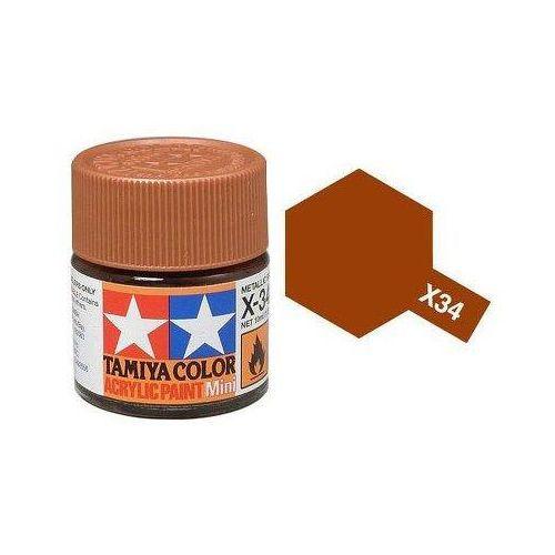 farba acrylic mini x-34 met brown marki Tamiya