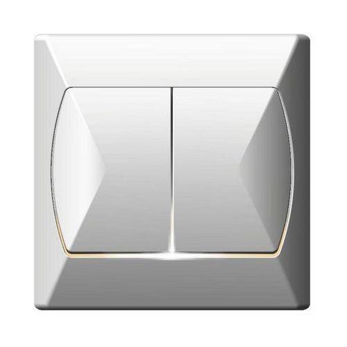 Ospel Łącznik schodowy podwójny akcent z podświetleniem biały (5907577426460)