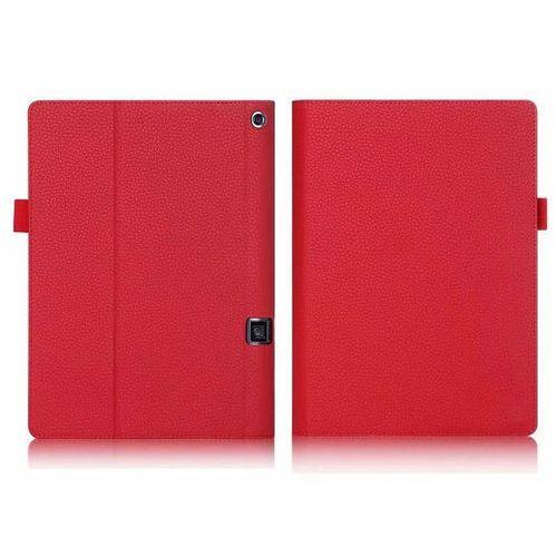 Etui skórzane Lenovo Yoga Tab 3 Pro X90 / Tab 3 Plus Czerwone - Czerwony, kolor czerwony