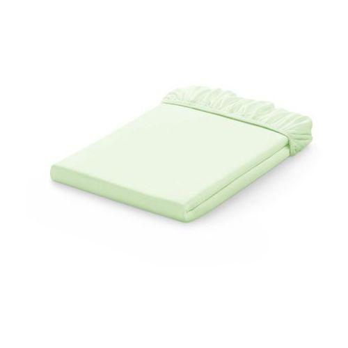 Mamo-tato prześcieradło jersey bawełniane z gumką do łóżeczka 60x120 - jasna zieleń