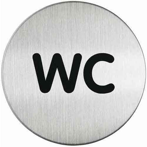 Oznaczenie toalet metalowe okrągłe - wc, marki Durable