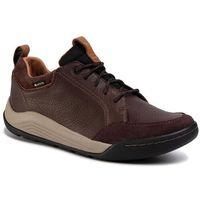 Półbuty CLARKS - Ashcombe Bay GTX Gore-Tex 261354017 Dark Brown Lea, kolor brązowy