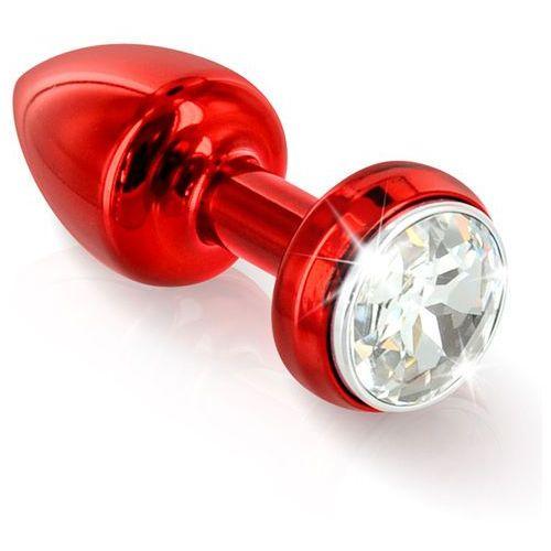 Zdobiony plug wibrujący -  annixitting vibrating butt plug 34 red czerwony marki Diogol