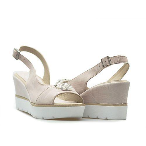 Sandały 0781 dot pigi różowe lico marki Simen