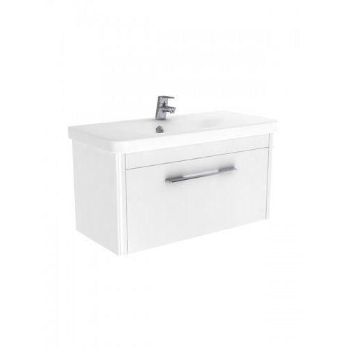New Trendy Vito szafka wisząca + umywalka biały połysk 80 cm ML-LA080, ML-LA080