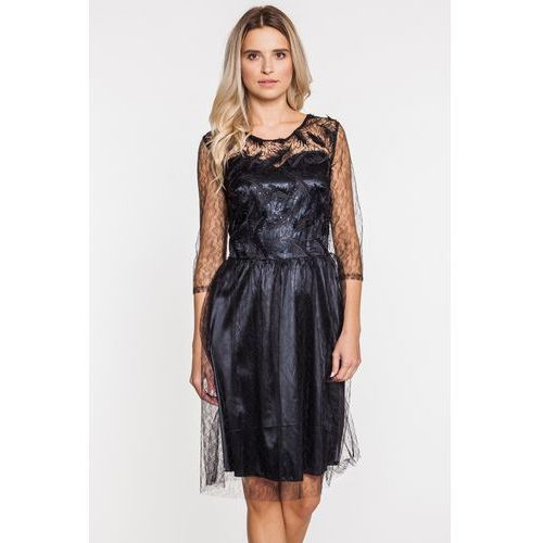 Tiulowo-koronkowa sukienka wieczorowa - marki Margo collection