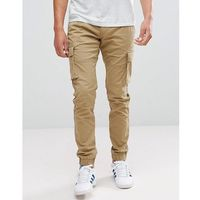 Only & sons cargo trouser with cuffed hem - beige