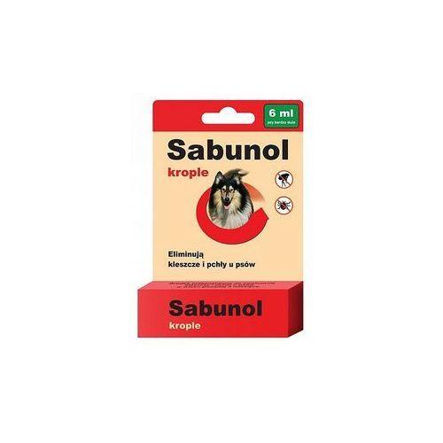 Dermapharm sabunol krople przeciw pchłom i kleszczom dla psa 6ml