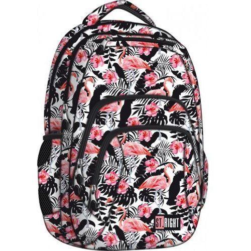 Majewski  plecak 4-komory flamingo pink & black bp25 darmowy odbiór w 20 miastach!