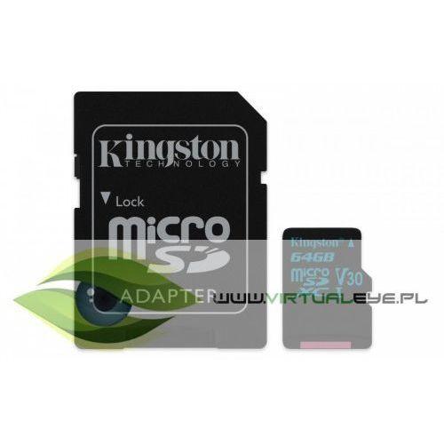 Kingston microSD 64GB Canvas Go 90/45MB/s UHS-I V30 + adapter