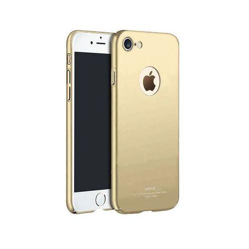 Etui MSVII Thin Case Apple iPhone 7 Złote z wycięciem +szkło - Złoty