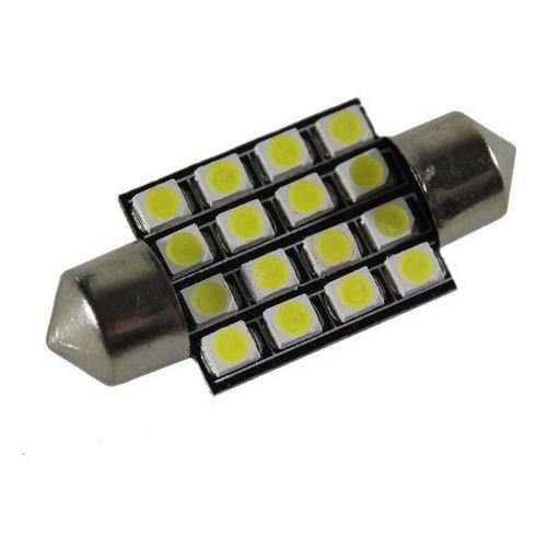 Żarówka samochodowa LED C5W, 16 x led, 36mm + Bezpłatna natychmiastowa gwarancja wymiany!, 15003