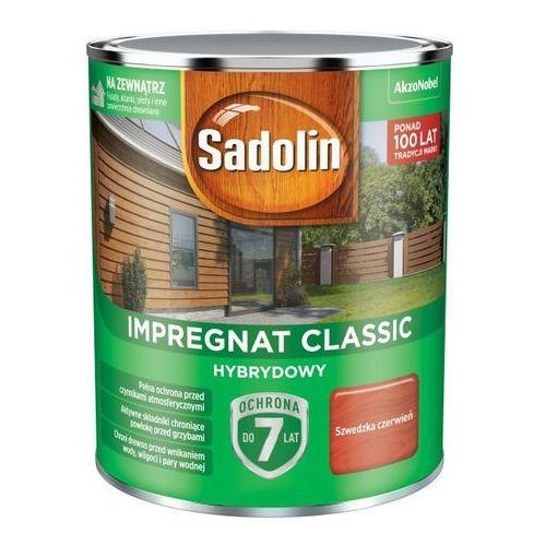 Impregnat do drewna Sadolin Hybrydowy szwedzka czerwień 0,75 l (5904078212301)