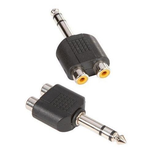 Adam hall connectors 7549 - łącznik typu y 2 x cinch mono żeńskie na jack stereo 6,3 mm męski