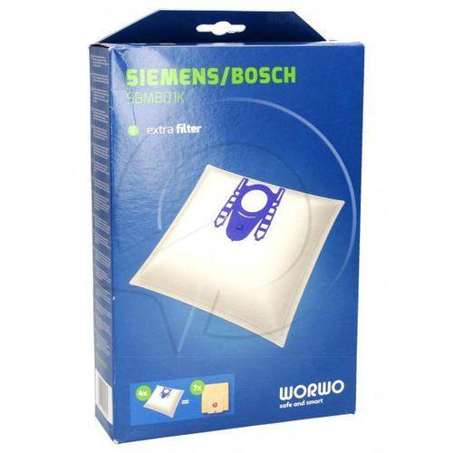 H Worki Perfect Bag (4szt.) + filtr wlotowy (1szt.) do odkurzacza Siemens