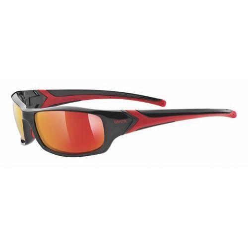 Uvex okulary przeciwsłoneczne sportstyle 211 black red/mir red (2213) (4043197228938)