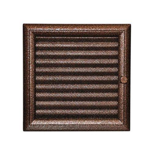 Kratki kratka kominkowa oskar miedziana malowana z żaluzją 220x220 mm (5901350027585)